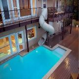 Britannia Manor Water Slide House in Texas, USA