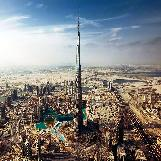 Burj Khalifa Tower in Dubai, UAE