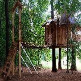 Cool Treehouse with a Bridge