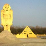 Gold Pyramid House in Illinois, USA