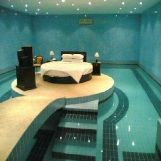 Luxury Bed in a Pool Room