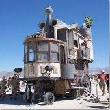 """Neverwas Haul"" Victorian House at Burning Man Music Festival"