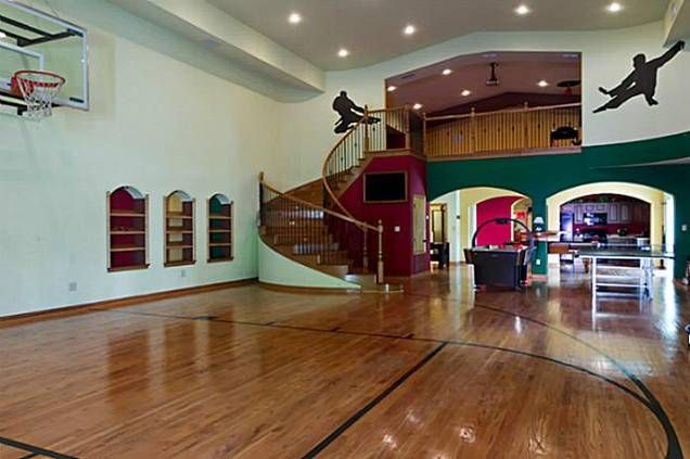 Basketball Gym Inside A House Dream Homes Mortgage