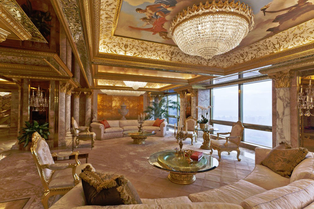 Donald and Melania Trump's Manhattan Penthouse