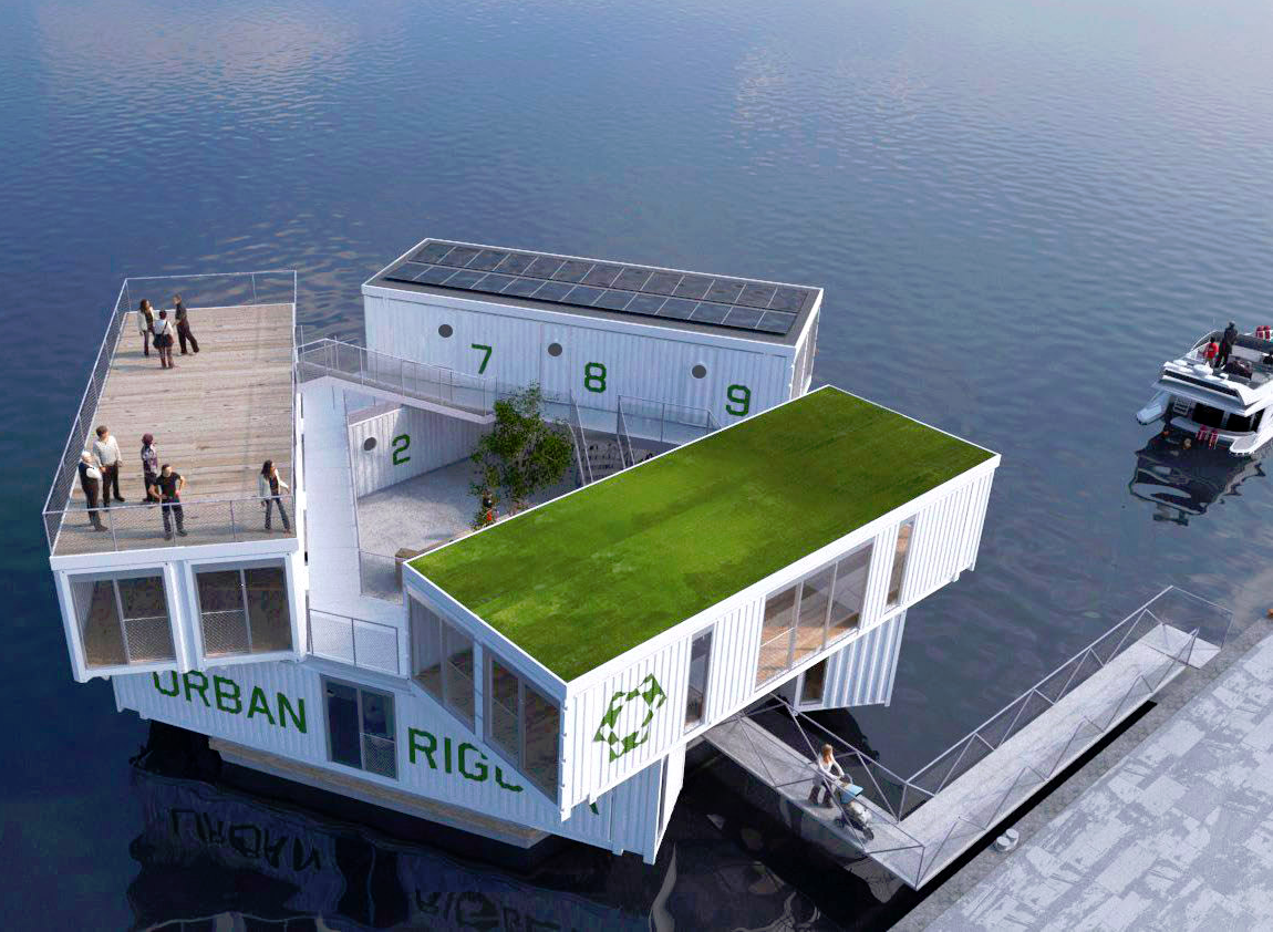 Floating Dorms in Copenhagen, Denmark