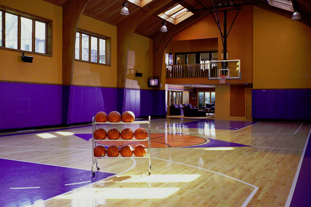 Full Size Indoor Basketball Gym In A House Dream Homes Mortgage Calculator