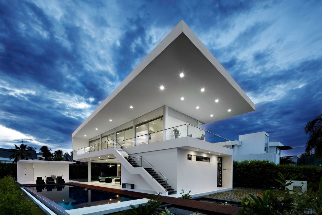 Futuristic House Entrancing Futuristic House In Girardot Colombia  Dream Homes  Mortgage Design Inspiration