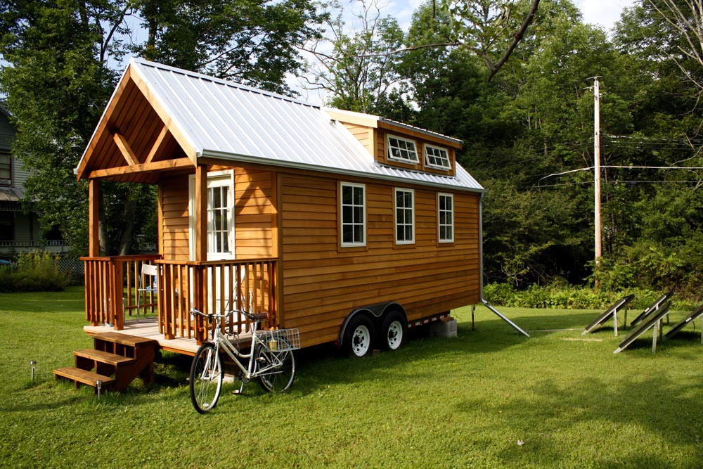 Wooden Trailer Home   Dream Homes   Morte Calculator on
